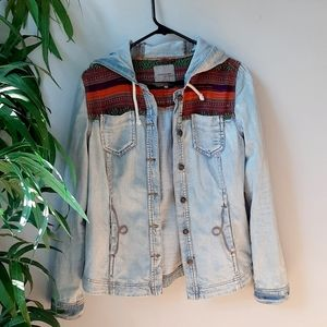 River Island aztec embroidered jean jacket